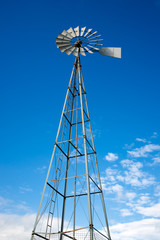 Tall Steel Water Pumping Windmill
