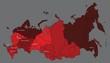 Постер, плакат: Карта России с федеральными округами