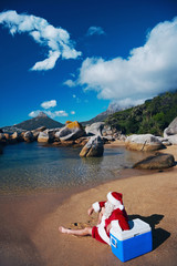 This is how Father Christmas likes to relax