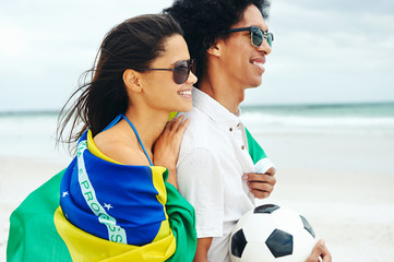 World cup soccer couple