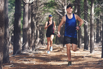 trail running couple