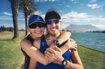 fitness couple portrait