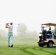 Leinwandbild Motiv golf cart man