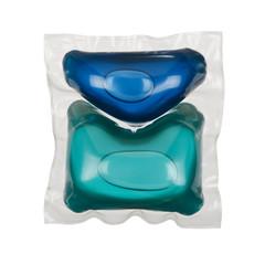 Gel laundry capsules