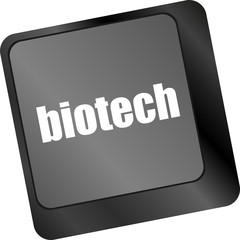 bio tech message on enter key of keyboard