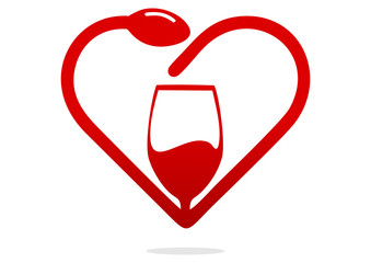 logo love wine
