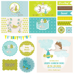 Baby Shower Stork Theme Set - for Party Decoration, Scrapbook
