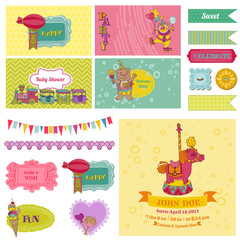 Baby Shower Circus Party Set - for Party Decoration, Scrapbook