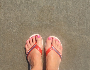 of foot in the sand