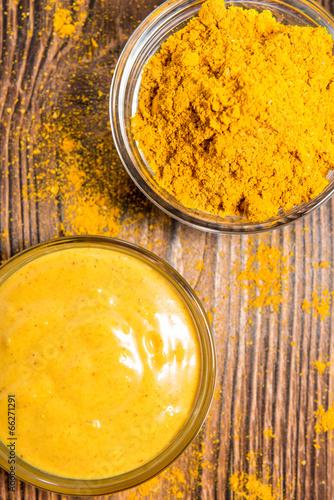 Foto op Aluminium Kruiderij Curry Sauce