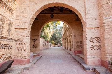 Architecture details of Medina village in Agadir, Morocco