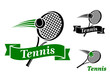 Tennis sports emblems