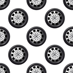 Automobile wheel seamless pattern