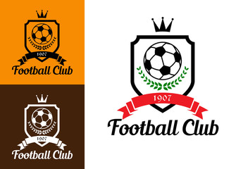 Football or soccer crests
