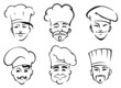 Cartoon chefs in toques