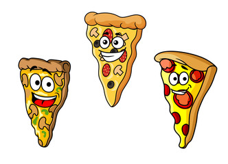 Cartoon pizza slices