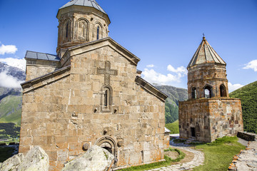 Gergeti Trinity Church in Stepantsminda Georgia