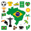 Brazil and soccer icon set