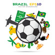 Brazil and soccer  background