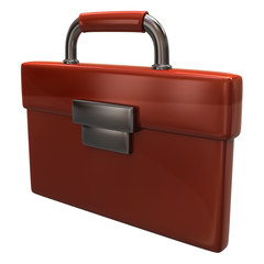 Orange briefcase icon