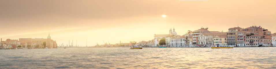 View of Grand canal and laguna in Venice