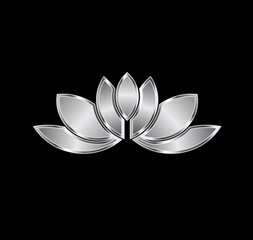 Platinum Lotus plant image. Concept of luxury spa