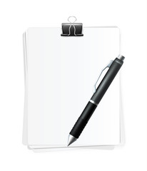 Vector Realistic Blank Sheets of Paper