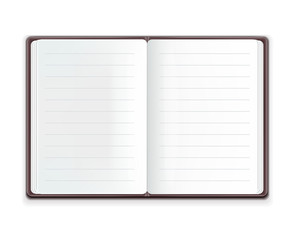Vector Realistic Open Notebook
