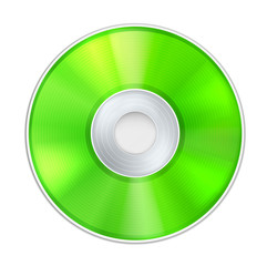 Vector Green Realistic CD Disk