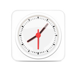 Vector White Desktop Clock