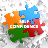 Self Confidence on Multicolor Puzzle. poster