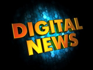 Digital News - Gold 3D Words.