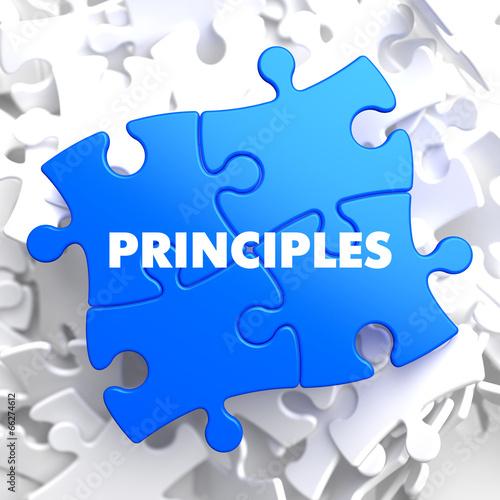 Principles on Blue Puzzle. - 66274612