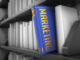 Marketing - Title of Book. Internet Concept. poster
