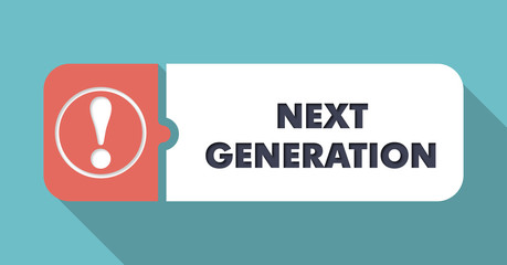 Next Generation on Turquoise in Flat Design.