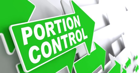 Portion Control on Green Direction Arrow Sign.