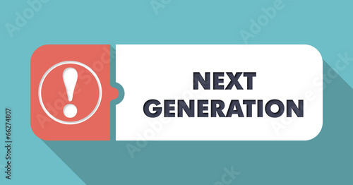 Next Generation on Turquoise in Flat Design. - 66274807