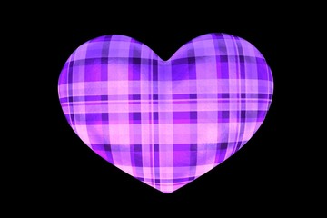 Purple Plaid Heart