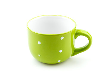 green mug isolated