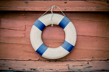 lifebuoy blue stripes