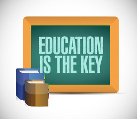 education is the key sign illustration design