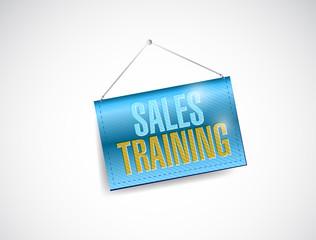 sales training banner sign illustration design