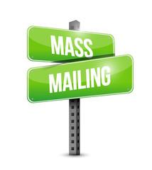 mass mailing sign illustration design
