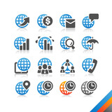 Global Business Finance icon vector - Simplicity Series poster