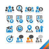 Business Human Resource icon vector - Simplicity Series poster