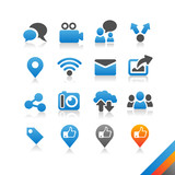 Social media icons vector - Simplicity Series poster