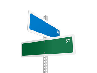 BLANK Street signs (American road avenue)