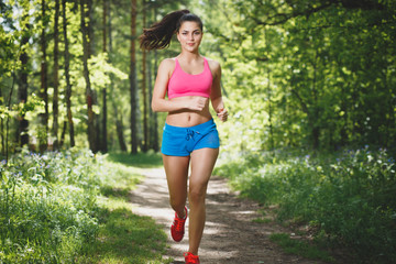 Female Runner Jogging during Outdoor training
