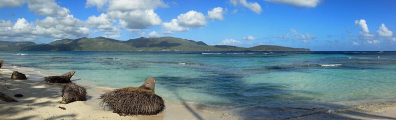 panorama de la playita sur la côte de samana