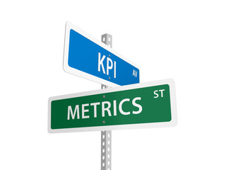 KPI & METRICS Street signs (American performance key indicator)